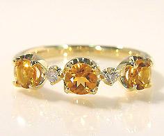 【GWクーポン配布中】K18 シトリン ダイヤモンド リング 「attore」送料無料 指輪 ゴールド ダイアモンド 18K 18金 誕生日 11月誕生石 刻印 文字入れ メッセージ ギフト 贈り物 ピンキーリング対応可能