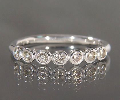 K18 ダイヤモンド リング 「ponte」送料無料 指輪 ダイアモンド ゴールド 18K 18金 誕生日 4月誕生石 刻印 文字入れ メッセージ ギフト 贈り物 ピンキーリング対応可能
