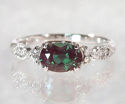 K18 カラーチェンジアンデシン ダイヤモンド リング 「amanza」 指輪 ダイアモンド ゴールド 18K 18金 刻印 文字入れ メッセージ ギフト 贈り物 ピンキーリング対応可能