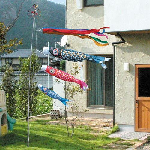 こいのぼり 鯉のぼり徳永鯉 ベランダ用 水袋 ゴールド鯉3m6点庭園用ガーデンセット【名入れor家紋入れ無料】