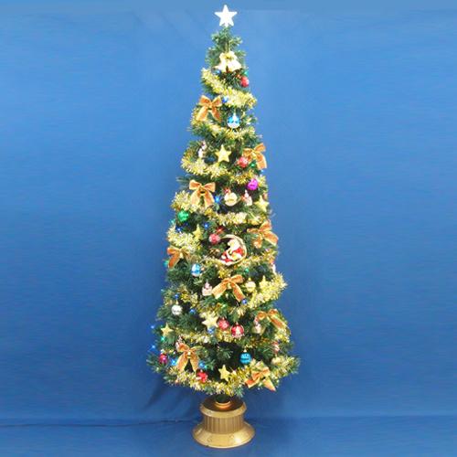 クリスマスツリー 北欧 おしゃれ 240cmファイバーツリーセット14 LED付き オーナメント セット LED 2m 3m 大型 業務用 インテリア