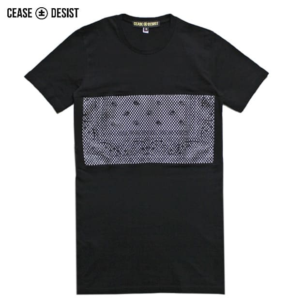 CEASE±DESIST (シーズ アンド デジスト) BANDO MESH LONG TEE (BLACK) [メッシュTシャツ カットソー クルーネック トップス ブランド バンダナ ストリート スポーツ スケート メンズ ユニセックス 半袖] [ブラック]