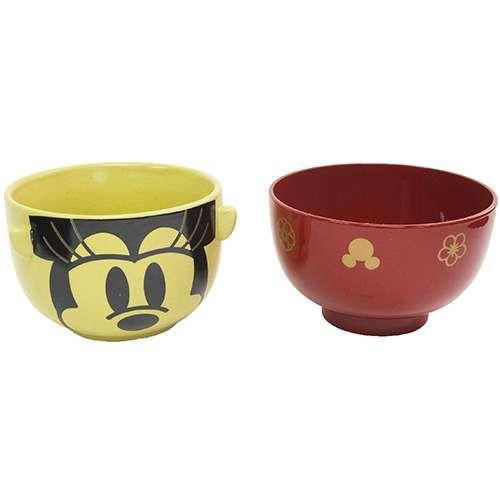ミニーマウス お茶碗&汁椀セット/和風