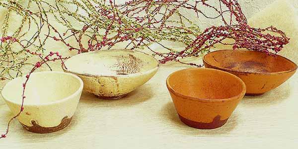 信楽焼 楕円鉢とプリン鉢セット