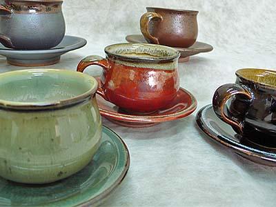 再入荷 予約販売 ☆最安値に挑戦 小石原焼 選べる5色のコーヒー碗皿