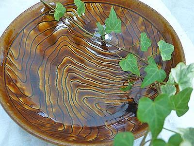 上野焼 飴釉木目鉢