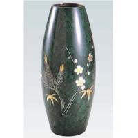 35-06 花瓶 砲型(松竹梅彫金)