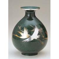 35-11 花瓶 福寿型(鶴彫金)
