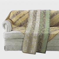 HV1415S 川島織物セルコン 花とストライプ マルチカバー 195×200 グリーン