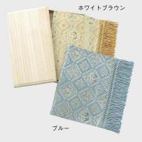 HP1049 川島織物セルコン 麟鳳襷紋(りんぽうたすきもん) 織りセンター 28×40 ブルー