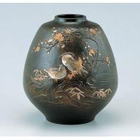 竹中銅器 82-04 銅製花瓶 おしどり