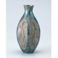 竹中銅器 82-05 銅製花瓶 六角ダルマ鶴地紋 8号