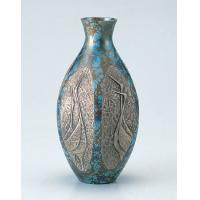 竹中銅器 82-06 銅製花瓶 六角ダルマ鶴地紋 9号