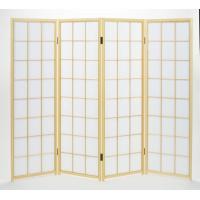 1501-4 白木障子 150cm四曲