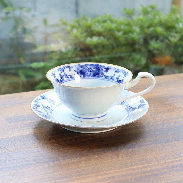 ティーカップ 販売 お花 チープ ギフト 母の日 敬老の日 菊 送料無料 有田焼 紅茶碗