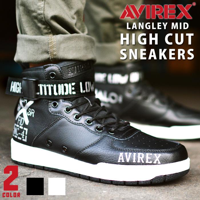 【送料無料】AVIREX アビレックス ラングレー ミッド LANGLEY MID メンズ スニーカー レディース ハイカットスニーカー ミッドカット バスケットシューズ HALO スポーツシューズ 靴 【取り寄せ】