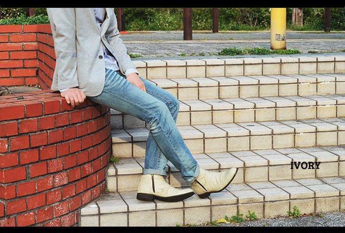 ブーツ メンズブーツ エンジニアブーツ ショートブーツ ドレープブーツ 革靴 ワークブーツ チャッカブーツ Wジッパー フォーマル  カジュアルシューズ 人気 脚長 靴 メンズシューズ Zeeno ジーノ ze2789/【あす楽対応】2019 春夏 トレンド