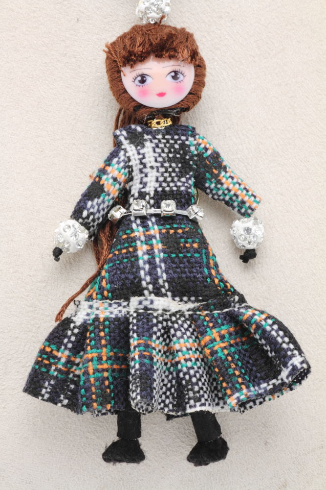 LE BRICIOLE(レ・ブリチオレ) My Favorite dolls パッチワーク コレクションドール AP424グリーン ネックレスタイプ