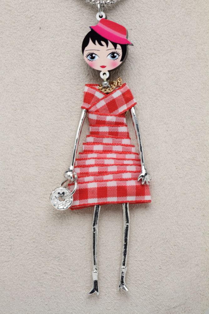 LE BRICIOLE(レ・ブリチオレ) My Favorite dolls Di Punto(ディプント) コレクションドール MP008 レッド ネックレスタイプ