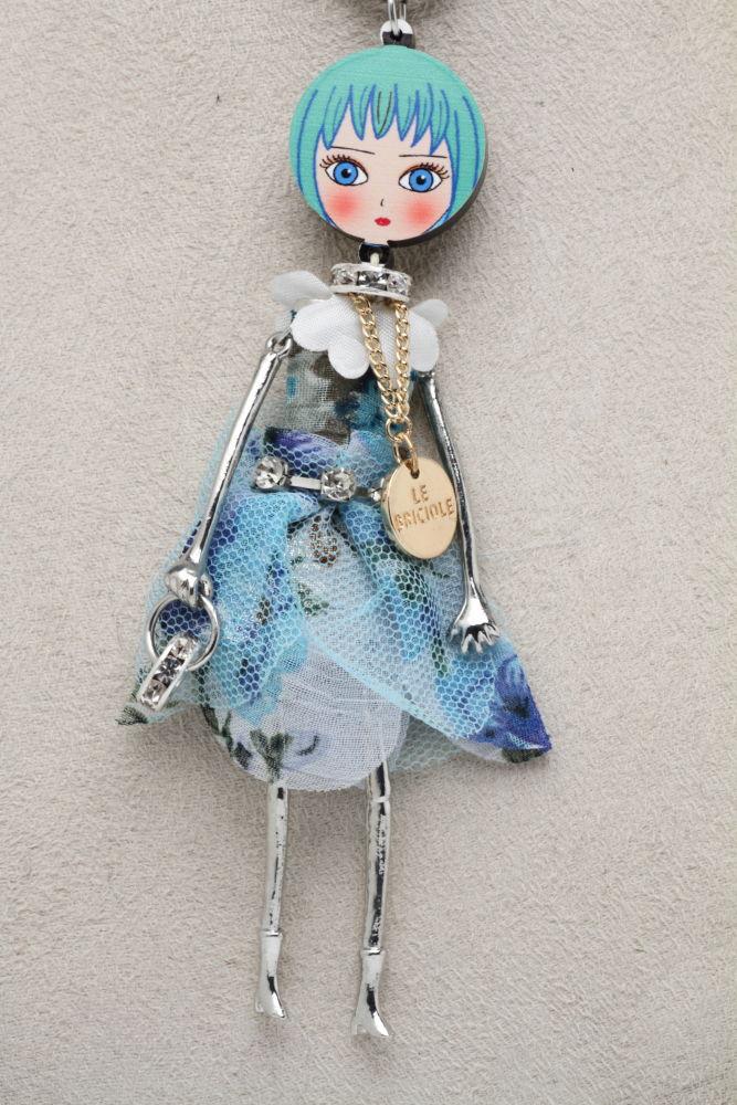 LE BRICIOLE(レ・ブリチオレ) My Favorite dolls Di Punto(ディプント) コレクションドール MP014 ターコイズ ネックレスタイプ