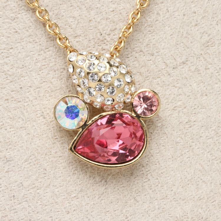 スワロフスキー ネックレス pink drop ピンクドロップ オリバーウェバー(OLIVER WEBER) ペンダント 首飾り プレゼント メンズ レディース あなたのハートを鷲掴み 誕生日 おしゃれ ギフト