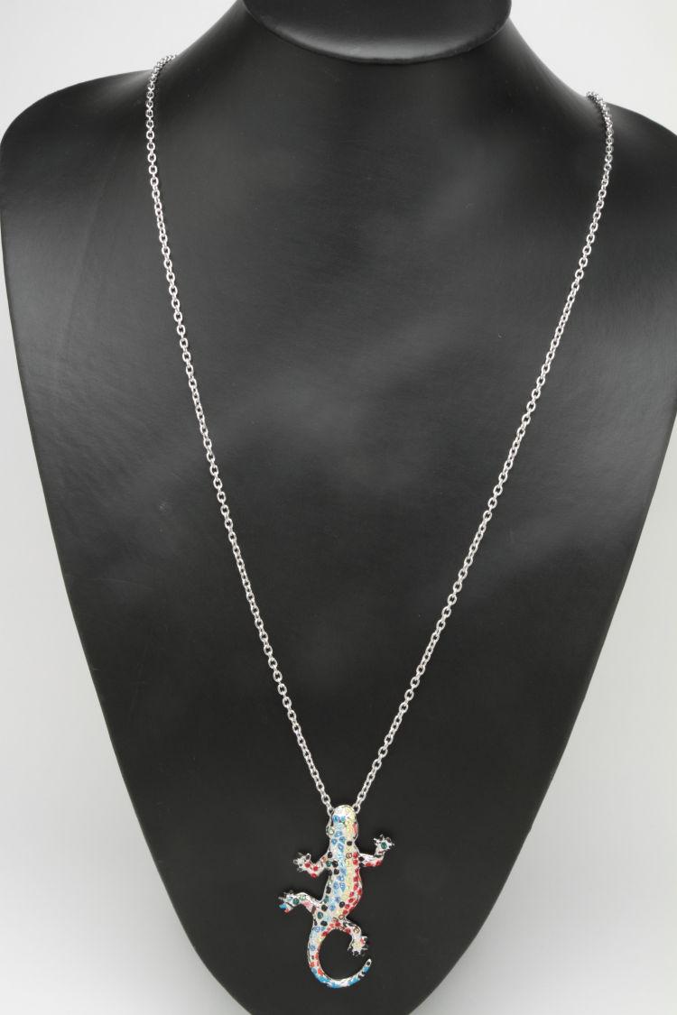 奥利弗韋伯(OLIVER WEBER)施華洛世奇[CRYSTALLIZED]項鏈Gaudi Drac Gaudi的蜥蜴銀