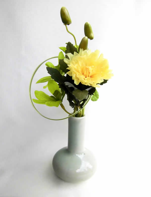 Vigo Shop Vase With A Slender At The Yellow Flowers Of The Small