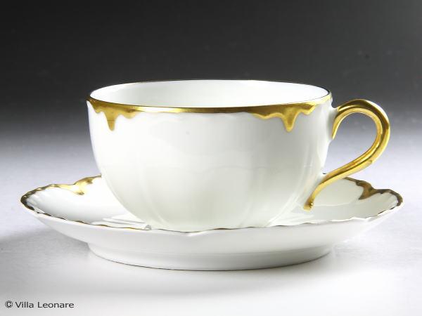 【リモージュ】アビランド ホワイト&金彩 カップ&ソ-サー