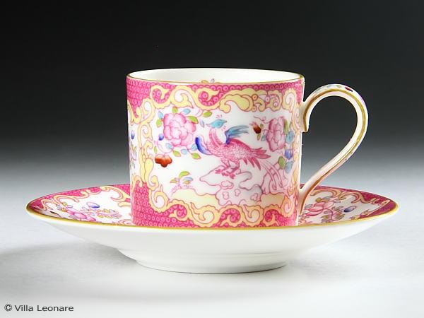 【ミントン】ピンク コカトリス カップ&ソーサー(デミタス)