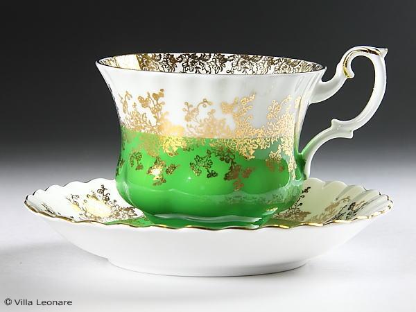【ロイヤル アルバート】リーガル (グリーン) カップ&ソーサー