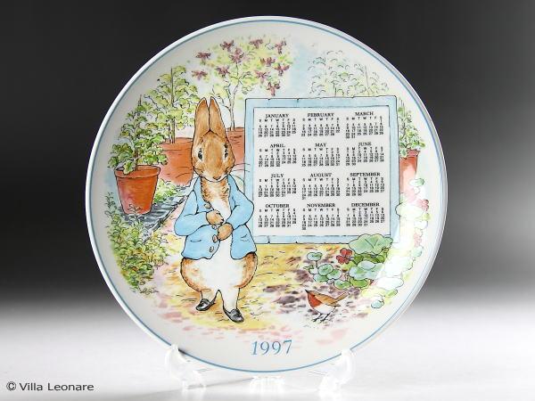 【ウエッジウッド】ピーターラビット カレンダープレート 1997年
