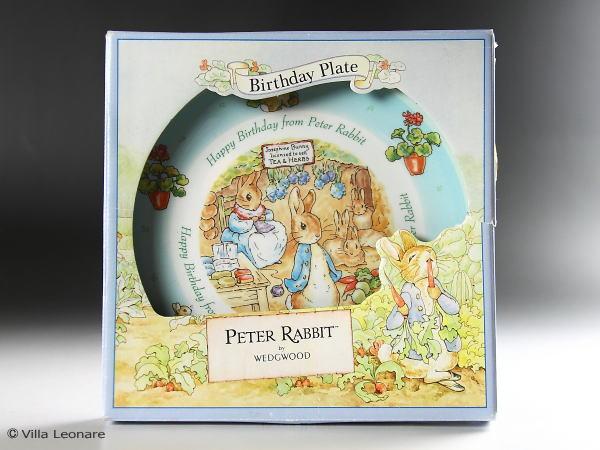 【ウエッジウッド】ピーターラビット HAPPY BIRTHDAY プレート 2003年(ボックス付)