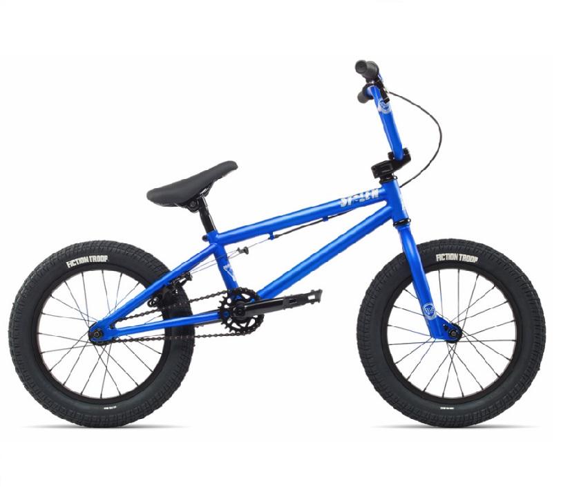 bmx 自転車 子供用 子供 大人 大人用 ストリート 16インチ トリック ハンドル ステム 街乗り 初心者 完成車 完全組立 STOLEN BRAND ストーレン AGENT MATTE NEON BLUE【S058】