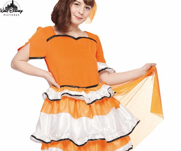 【レディ】ドレスアップニモ【ニモ】【魚】【ドレス】【熱帯魚】【ディズニー】【Disney】【ハロウィン】【コスプレ】【コスチューム】【衣装】【仮装】【かわいい】