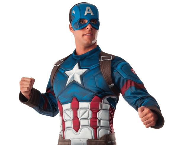 【メンズ】デラックスキャプテンアメリカ【キャプテンアメリカ】【マーベル】【ハロウィン】【コスプレ】【コスチューム】【衣装】【仮装】【集団仮装】【かわいい】