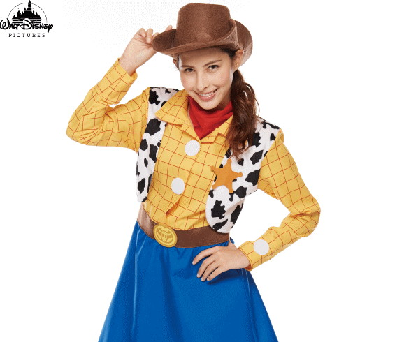 【レディ】ウッディ【Woody Pride】【トイストーリー】【ピクサー】【ディズニー】【Disney】【ハロウィン】【コスプレ】【コスチューム】【衣装】【仮装】【かわいい】