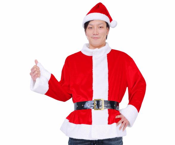 【UNISEX】光るサンタジャケット【ELEX】【光る】【クリスマス】【サンタ】【サンタクロース】【コスプレ】【コスチューム】【衣装】【仮装】【かわいい】