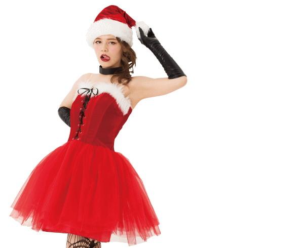 【レディ】ロックンチュールサンタ【サンタ】【クリスマス】【仮装】【衣装】【コスプレ】【コスチューム】【サンタクロース】【パーティ】【イベント】【かわいい】