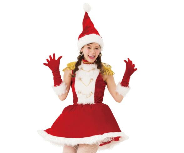 【レディ】マーチングガールサンタ【サンタ】【クリスマス】【仮装】【衣装】【コスプレ】【コスチューム】【サンタクロース】【パーティ】【イベント】【かわいい】