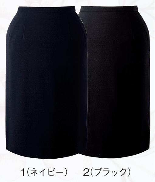 スカート ボトムス ビジネスウェア 事務服セミタイトスカート FS4566L (21号・23号)フォーク (FOLK) お取寄せ