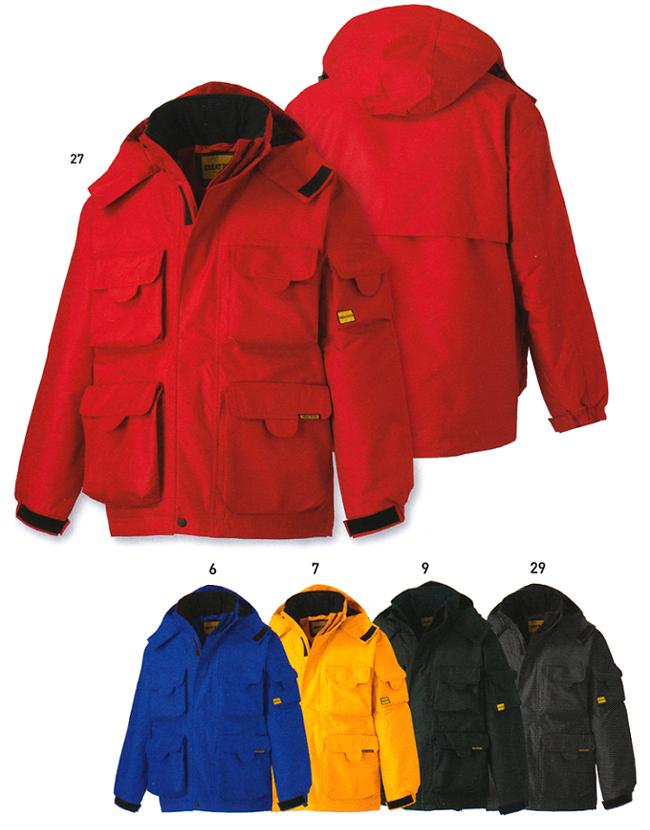 防寒服 防寒着 防寒ジャケットハーフジャケット(フード付) GR-1103 (4L)GR-1103シリーズタカヤ商事 お取寄せ