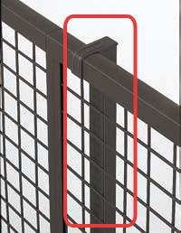 【フェンス】プリレオR3・4・5・6・9型フェンス用 フリー支柱(部品付き) 高さ1000本体同時購入で送料無料!柱1本からでも購入可能です!TOEX(LIXIL)の アルミ フェンス柱