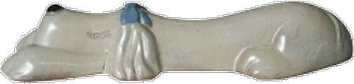【カーストッパー】アニマルカーストッパー メス(リボン 青) 色:クリーム 本体1台のみ車止め ブロック で駐車も安心!可愛らしい カーストッパー をお求めやすい価格で!【送料無料】