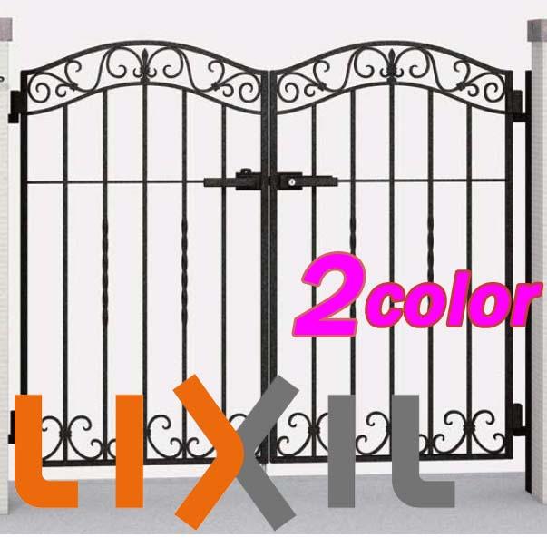 【門扉】ラフィーネ門扉4型 門扉 08-12 両開き 門柱タイプ TOEX(LIXIL) 高品質の リクシル(TOEX) アルミ鋳物 門扉 をお求めやすい価格で!【送料無料】