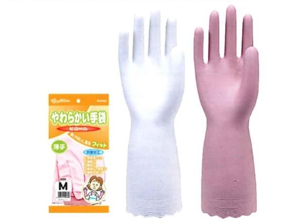 【送料無料】川西工業【KAWANISHI】作業手袋/ゴム手袋 2048 炊事用手袋やわらかい手袋 ビニール薄手 S・M・Lサイズ(シロ) 20組×12セット