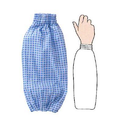 【送料無料】川西工業【KAWANISHI】作業用品/腕カバー 235T T/C腕カバー 格子柄 タック仕上 (ブルー)12双組×5セット
