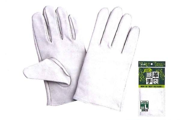 川西工業【KAWANISHI】作業手袋/皮手袋/豚皮 2385 豚クレスト スタンダード M・L・LLサイズ(シロ) 10組セット