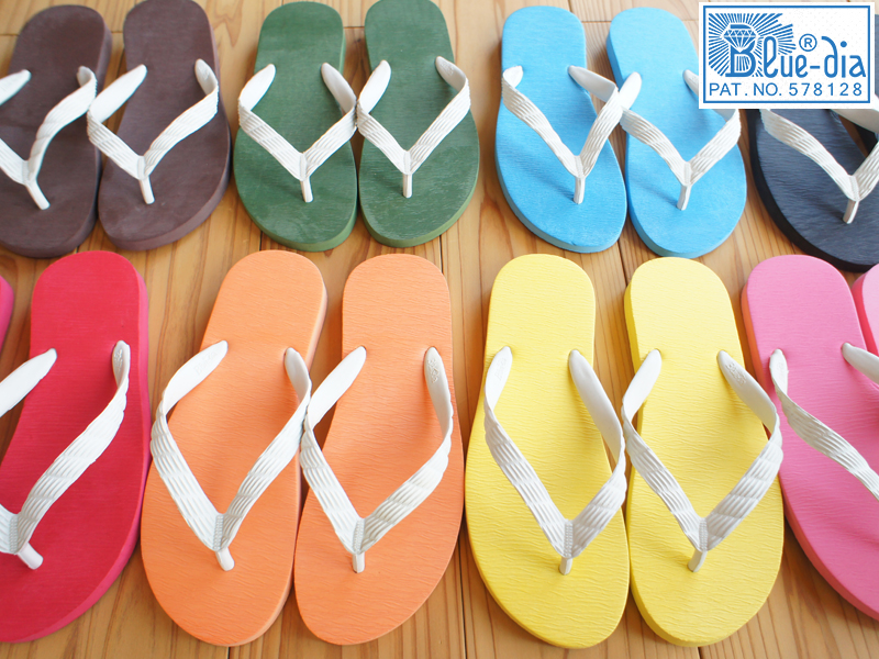 0e1eb31c435 Beach Sandals DIA inside and outside rubber unisex men s Womens   world s  first  original  flip flops natural rubber
