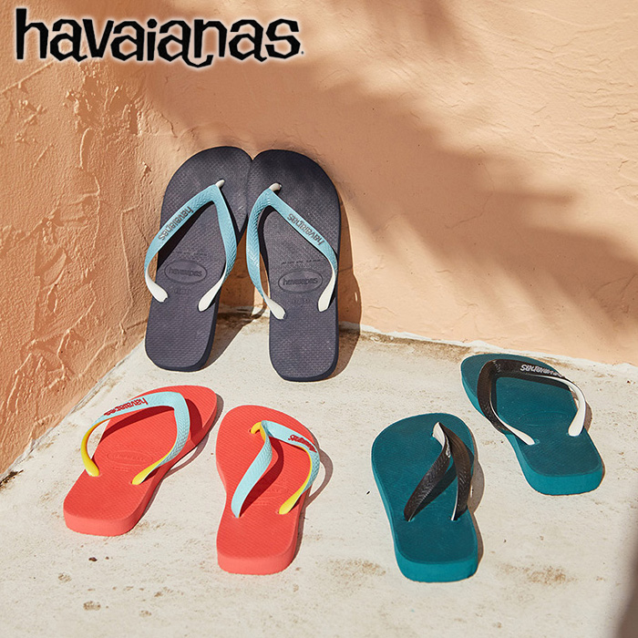 7c519ab5f9f Two-tone models Womens mens kids havaianas to represent King Havaianas TOP  MIX top mix of beach sandal unisex colours fun