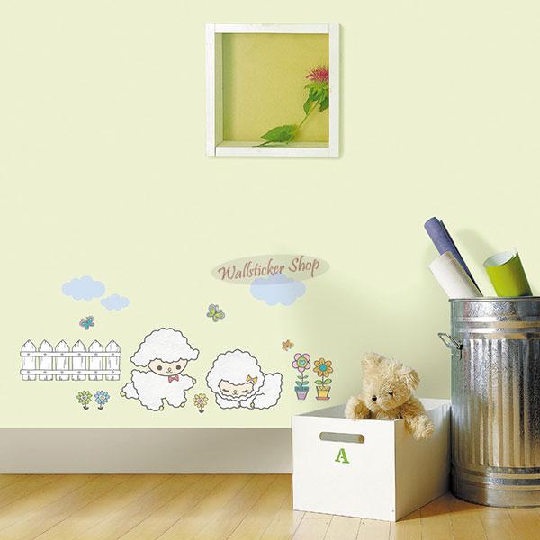 ウォールステッカーでお部屋が大変身 ウォールステッカー インテリアシール 壁シール 壁紙シール sticker 流行 北欧 ◆高品質 ヒツジ wall